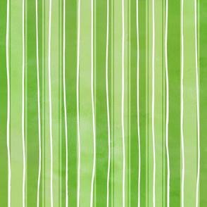 Rough watercolour stripes lime green