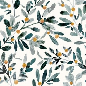 Sprig Greenery with ochre berries