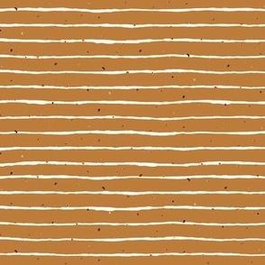 Wobbly Stripe mini gold dots - pumpkin Spice