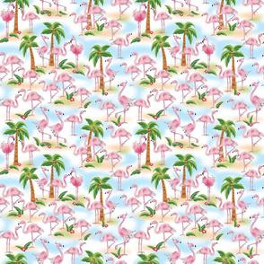 Flamingos Overall Print