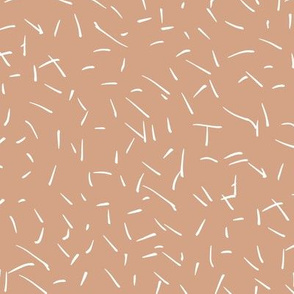 Scratches and scribblings little messy confetti ink lines neutral nursery minimal boho trend moody skin coral apricot