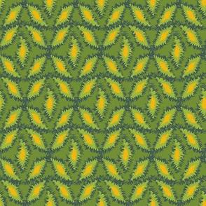 roughenabstract geometric in green and yellow by rysunki_malunki