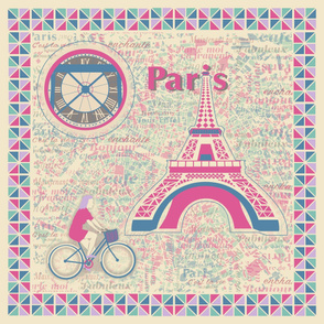Parisian Holiday Large Panel