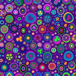 Millefiori Mix Purple