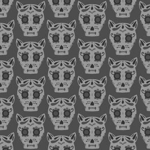 Cat Sugar Skull - Black