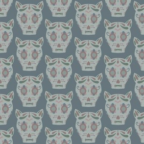 Cat Sugar Skull - Blue