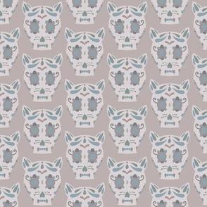 Sugar Skull Cat - Lilac
