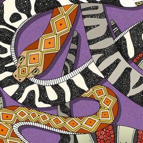 snakes violet