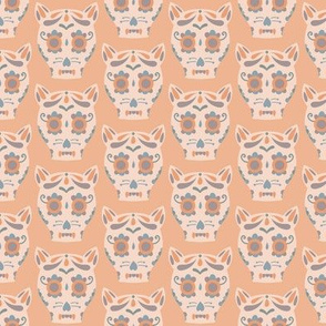 Cat Sugar Skull - Peach