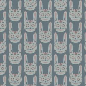 Bunny Sugar Skull - Blue