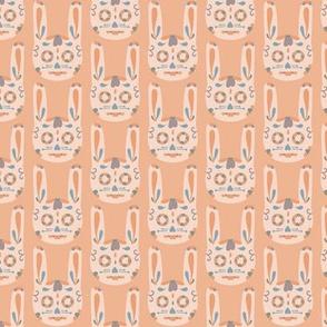 Bunny Sugar Skull - Peach