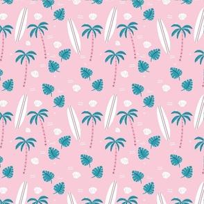 Pink Beach Surfing Ocean