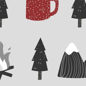 Camping mug Mountains and Trees