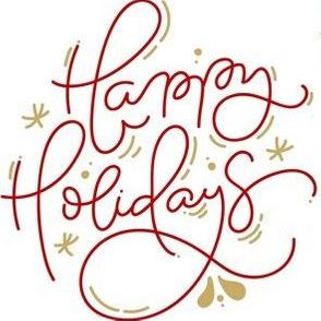 Happy Holidays Decorative Text