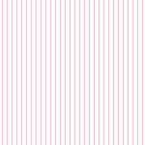 SPAGHETTI STRIPES pink on white