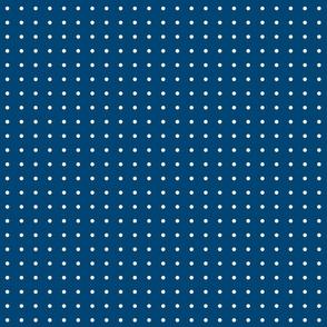 TINY POIS WHITE ON BLUE