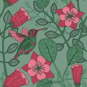 "Hummingbird (12"") - sage"