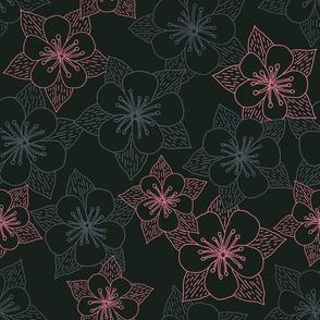 """Flower Cluster (12"""") - black"""
