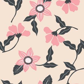 Vintage Pink Floral Pattern