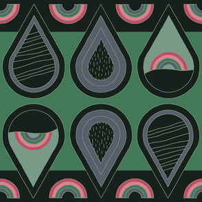"Rainbow Drizzle (12"") - green"
