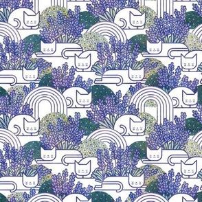 Lavender Field Cats Small- Cat Nap- Lavender