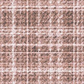 Tweed pink white plaid