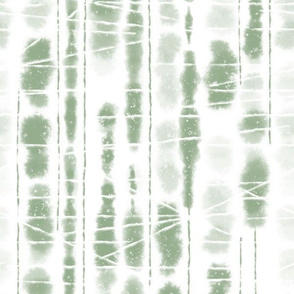 Shibori Sage Green Stripes by Angel Gerardo - Large Scale