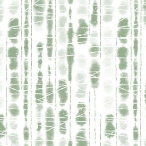 Shibori Sage Green Stripes by Angel Gerardo