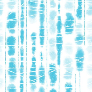 Shibori Aqua Sky Blue Stripes by Angel Gerardo - Large Scale