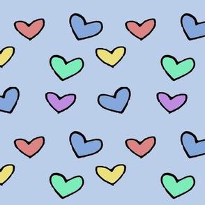 Pastel Polka Hearts