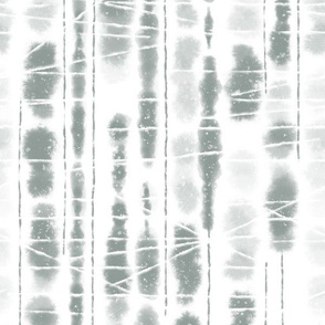 Shibori Slate Gray Grey Stripes by Angel Gerardo - Large Scale