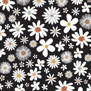 retro floral _black