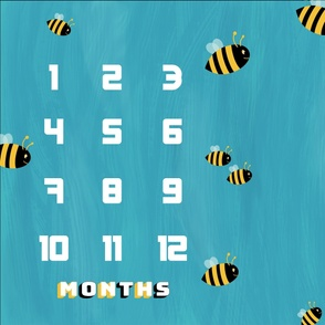 Milestone blanket with bees