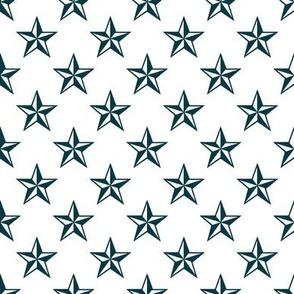 Nautical Blue Stars