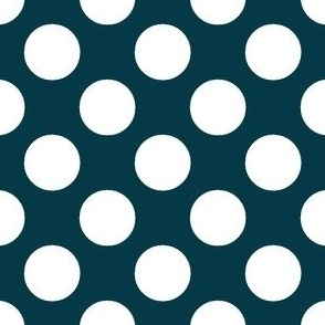 Nautical Blue_White dots on Blue