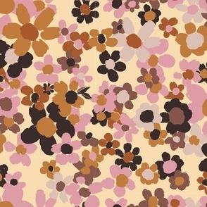 Pink Brownie Packed Floral