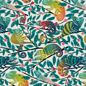 Colorful Chameleons Medium Large