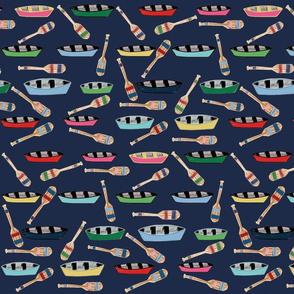 canoe paddles navy blue - LG 14