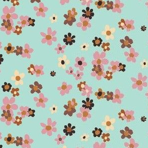 Ditsy Chocolate Mint Floral