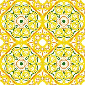 Yellow Spanish tile