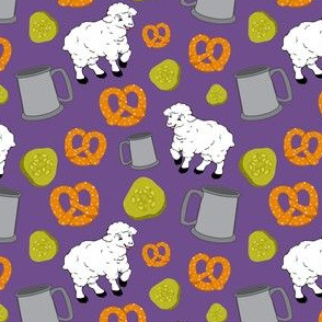 Sheep and Snacks Purple