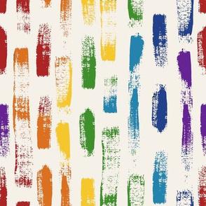 Rainbow Brushstrokes