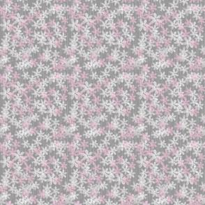 Grey pink Flowers