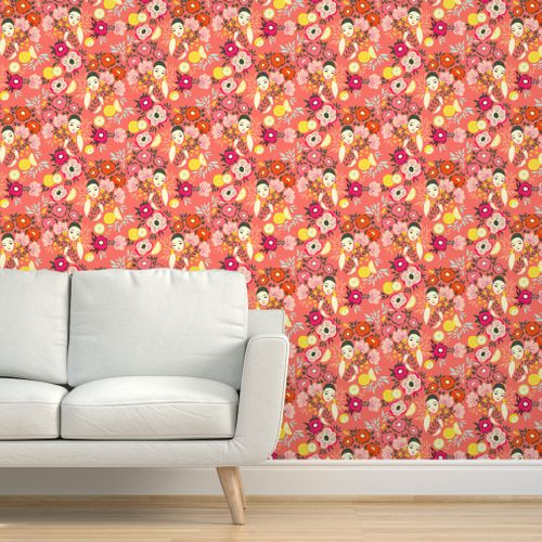 Aromatherapy Flower Bath Warm Pink Spoonflower