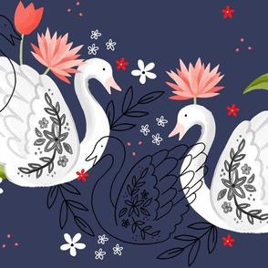 Swans like flowers too
