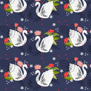 Ditsy Swans like flowers too