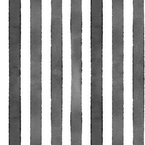 Watercolour Black Stripes