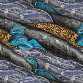 Multiple color blue_ black and yellow-brown Reptiles