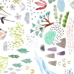 Watercolor Field- Bigger/Rotated