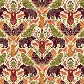 Wildlife 4 Inches fabric, Colorful, bear deer eagle fox